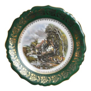 Vintage Collector Wall Cabinet Plate the Valley Farm John Constable by Limoges Lucien Michelaud France For Sale