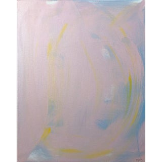 Pink Abstract Painting on Canvas by Tony Curry For Sale