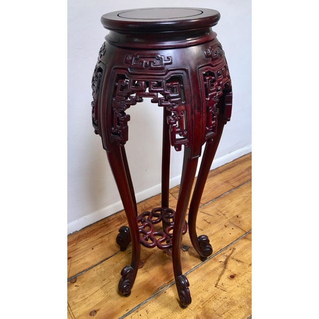 """From the 1940's, this pedestal table measures 42"""" high with a fourteen inch diameter. From the estate of a Santa Fe..."""