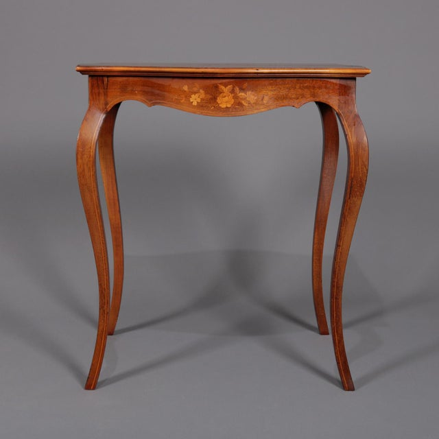1900s French Marquetry, Mahogany With Satinwood Inlay For Sale - Image 12 of 13