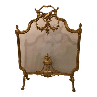 19th-Early 20th Century Louis XVI Style Bronze Firescreen For Sale