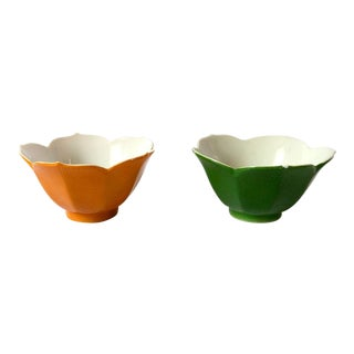 Vintage Japanese Lotus Bowls - a Pair For Sale