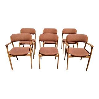 1960s Danish Modern Erik Buch Dining Chairs - Set of 6