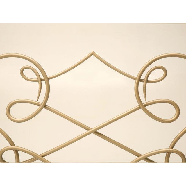 Metal Fire Screen in the Style of Rene Drouet For Sale - Image 7 of 9