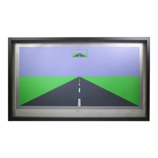 """Deja Vu"" by Patrick Hughes, 1976, Signed Limited Edition Screenprint For Sale"