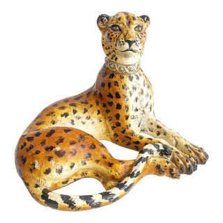Vintage Leopard Figure With Collar For Sale