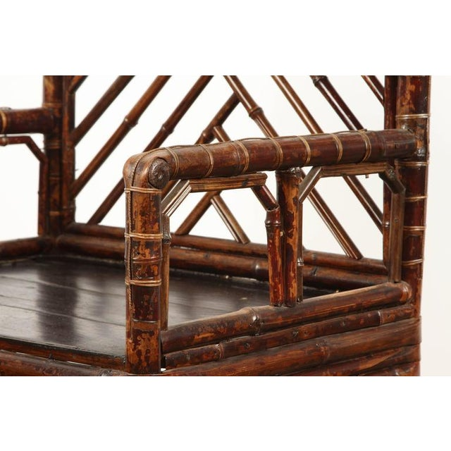 19th Century Chinese Bamboo Arm Chair For Sale - Image 4 of 9