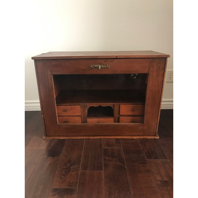 Brown 19th Century Traditional Cigar Humidor/Secretary Cabinet For Sale - Image 8 of 8