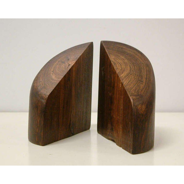Brown 1960s Don Shoemaker Cocobolo Wood Bookends - a Pair For Sale - Image 8 of 10