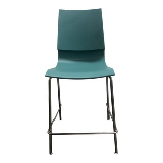 Knoll Aqua & Chrome Gigi Counter Stool