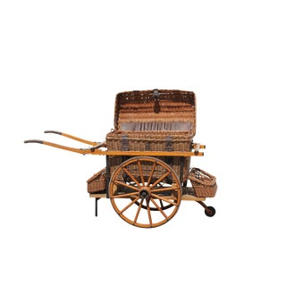 Antique Wicker Picnic Cart