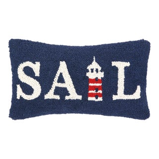 """Sail Hook Pillow, 9"""" x 16"""" For Sale"""