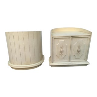 1970s French Half Moon Nightstands - a Pair For Sale