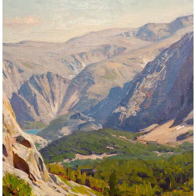 1970s 1970s Vintage Taylor Lynde Montana Lake Scenery Oil Painting For Sale - Image 5 of 10