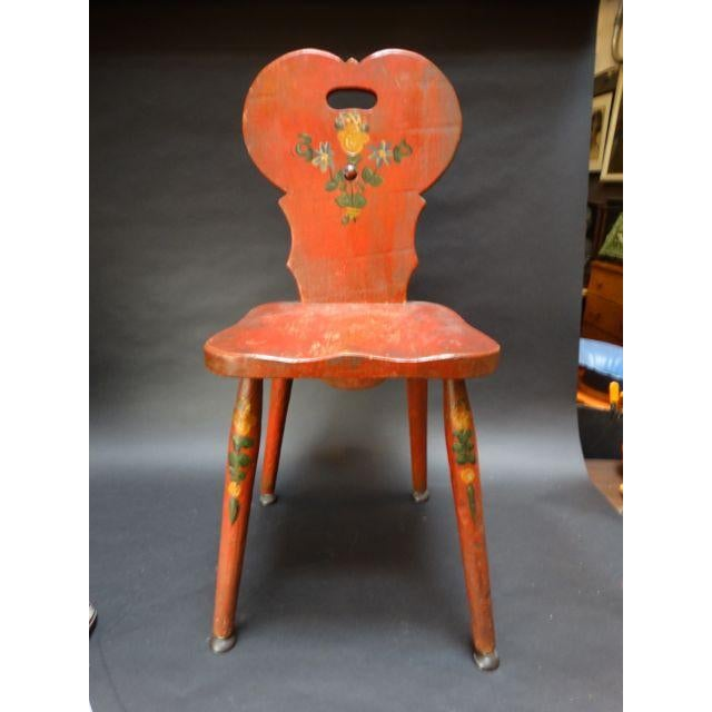 Monterey Classic Red Keyhole Chair - Image 2 of 8