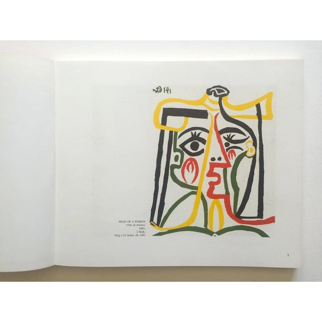 "This "" Picasso Linocuts 1958 - 1963 "" rare vintage 1968 first edition lithograph print collector's exhibition softcover..."