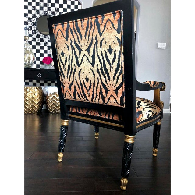 Empire Tiger Pattern Empire Style Chair For Sale - Image 3 of 8