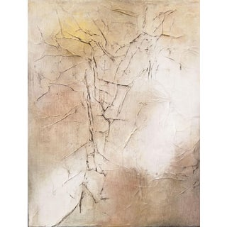 Modern Abstract Metallic Textured Painting