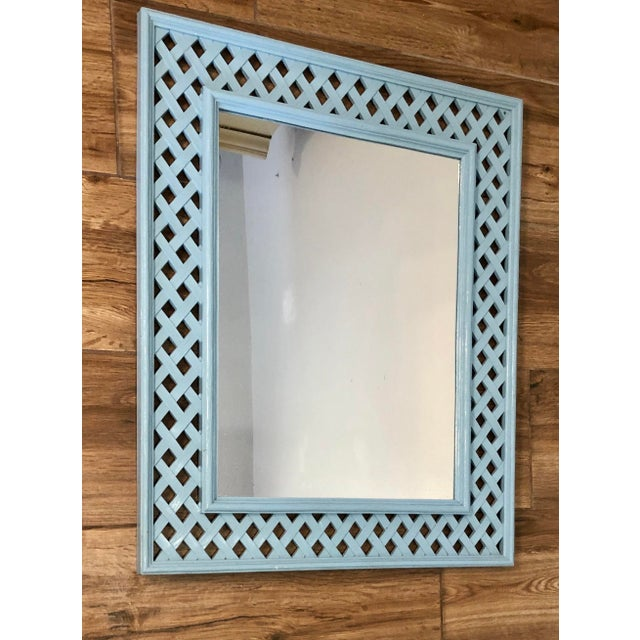 Lattice pattern syroco mirror will look perfect with your palm beach, lily pulitzer or Dorothy Draper decor