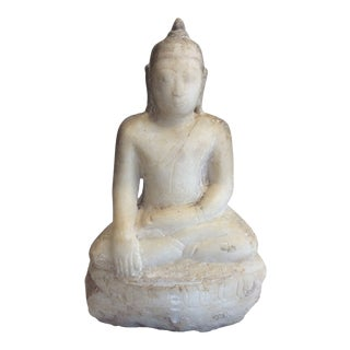 19th Century Antique Marble Buddha State For Sale