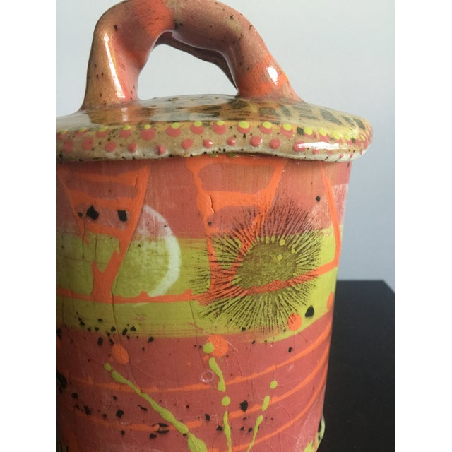 1970s 1970s Abstract Colorful Glazed Pottery For Sale - Image 5 of 12