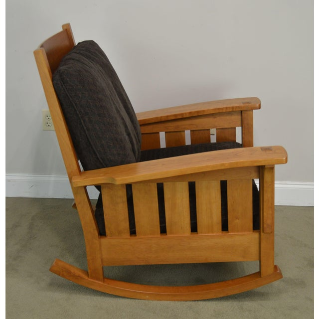 Stickley Stickley Mission Collection Solid Cherry Rocker For Sale - Image 4 of 13