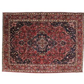 1960s Vintage Persian Saman Rug - 9′7″ × 13′ For Sale