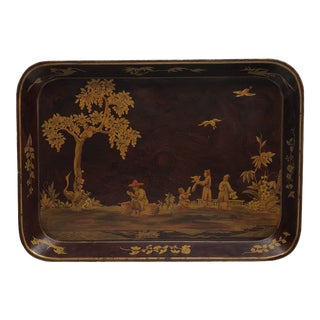 Vintage Chinoiserie Landscape Tray