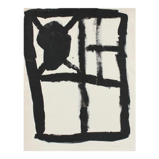 Modernist Minimal Abstract in Gouache, 20th Century For Sale