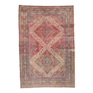 Distressed Antique Khotan Rug For Sale