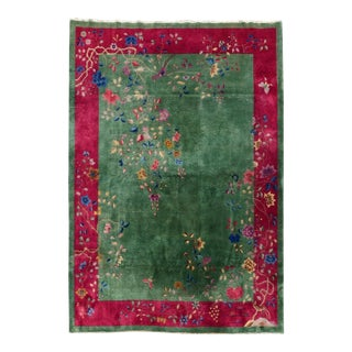 Early 20th Century Antique Nichols Chinese Art Deco Rug For Sale