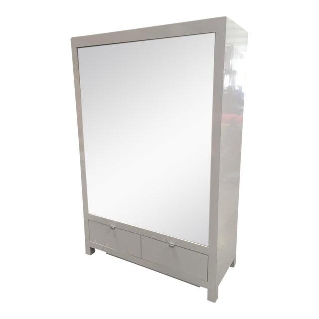 Ebbett Design & Associates White Mirrored Armoire - Image 1 of 9