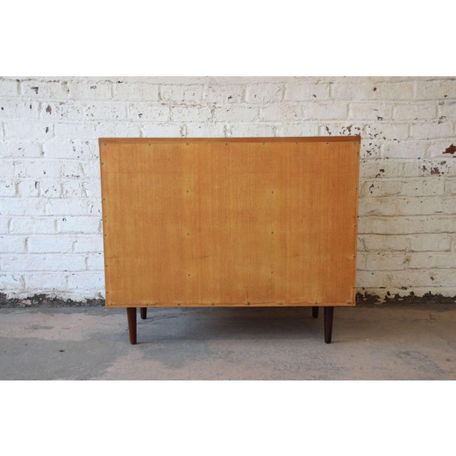 Edward Wormley for Dunbar Woven Front Cabinet For Sale - Image 10 of 11