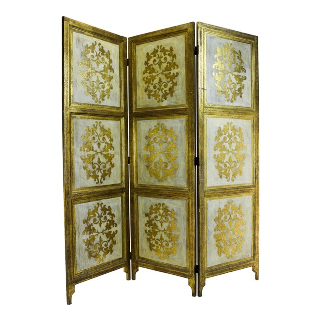 Vintage Florentine 3 Panel Screen - Image 1 of 11