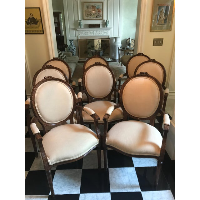 Cesar Seda Italian Hand-Crafted Dining Chairs - Set of 8 - Image 2 of 7