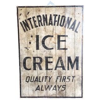 International Ice Cream Sign