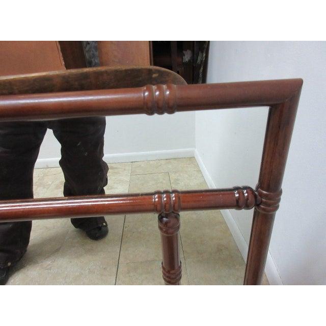 Bamboo Bombay Company Mahogany Faux Bamboo Wall Mirror For Sale - Image 7 of 8