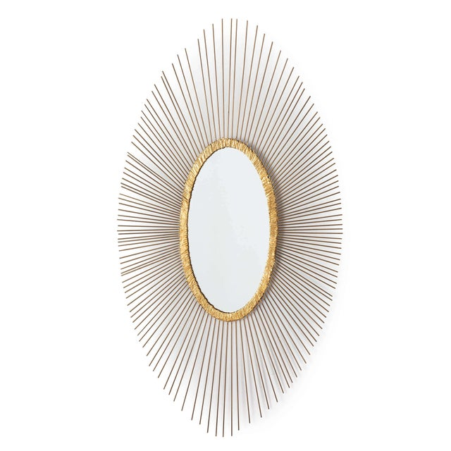Not Yet Made - Made To Order Sedona Oval Mirror For Sale - Image 5 of 5