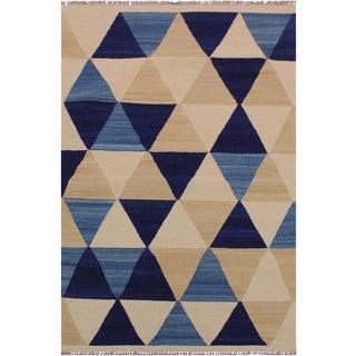 Kilim Arlen Hand-Woven Wool Rug -3'2 X 4'11 For Sale