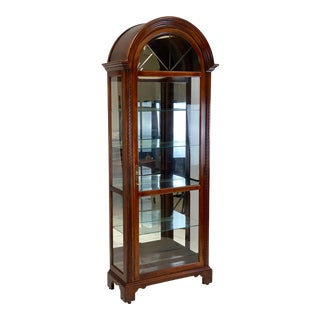 Late 20th Century Howard Miller Neoclassical Armand Curio Cabinet For Sale
