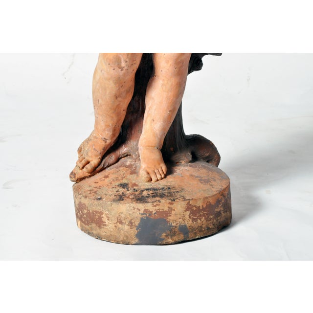 French Terracotta Figure of a Boy For Sale - Image 11 of 11