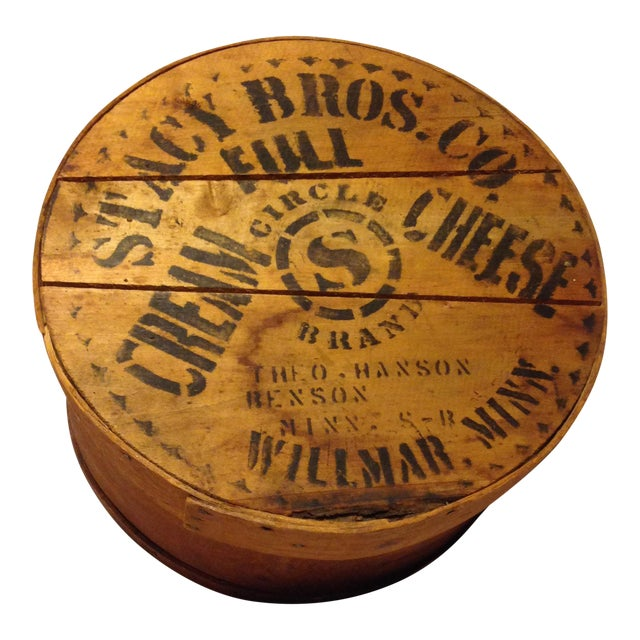 Almost Antique Deep Wood Cheese Box From the Stacy Bros. Co. - Image 1 of 5