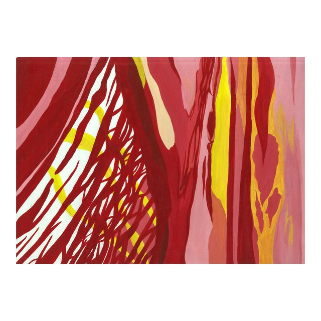 Red & Yellow Abstract Painting - Image 1 of 3
