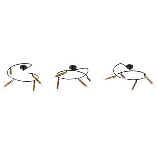 In Style of Giampiero Aloi, Set of Three Lusters, Lumi Production, 1960