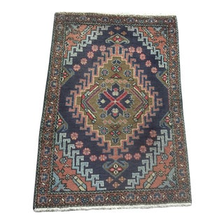 Vintage Persian Wool Accent Rug - 2′2″ × 3′ For Sale