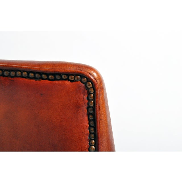 French Leather Armchairs - a Pair For Sale - Image 12 of 13