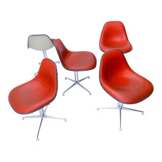Charles and Ray Eames Designed La Fonda Chairs for Herman Miller - Set of 5 For Sale