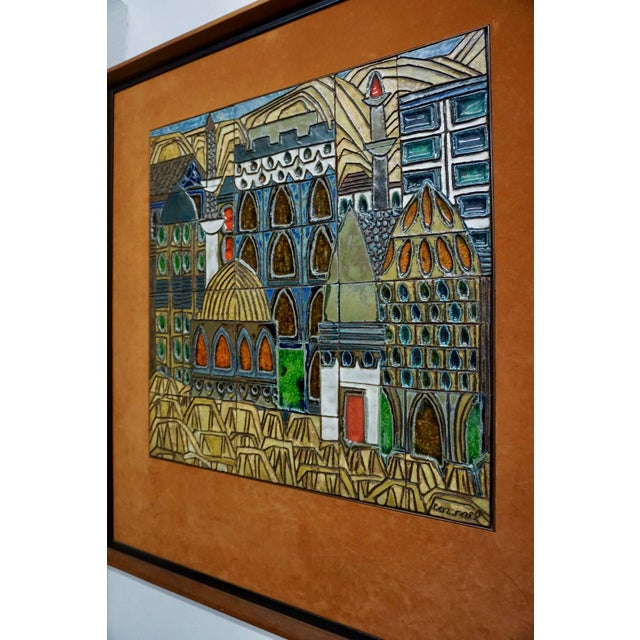 Raul Coronel Glazed Ceramic Tiles by Raul Coronel For Sale - Image 4 of 7