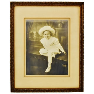 Antique Framed Photograph of Well Dressed Child For Sale