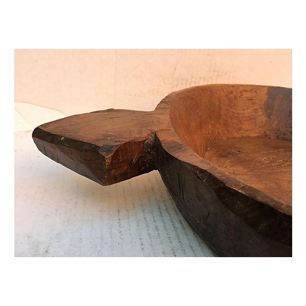 Farm House Rustic Wooden Dough Bowl For Sale - Image 5 of 6